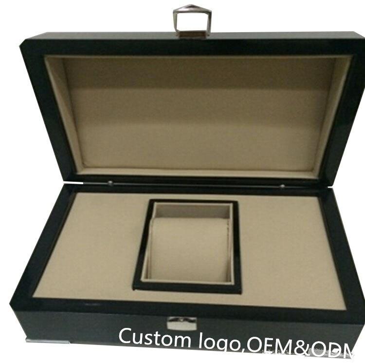 Boîte de montre de marque originale de cadeau en bois fait sur commande de luxe dans les montres-bracelets d'emballage, vente en gros et Reatail et adaptent le prix usine d'heure de boîtes - 2