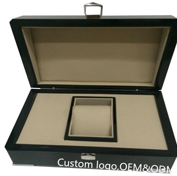 luksuslik kohandatud puidust kingituse originaalne brändi kellakast - Kellade tarvikud - Foto 2