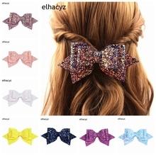 1PC Retail NEW Glitter Boutique Bowknot Princess Hairgrips Hair Bows Clip DIY Party Bow Hair Clip Girls Hairpin Hair Accessories glitter bow hair clip
