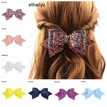 1PC Retail NEW Glitter Boutique Bowknot Princess Hairgrips Hair Bows Clip DIY Party Bow Hair Clip Girls Hairpin Hair Accessories twdvs 2018 new girls hair clip hair bow snow princess hairpin headbands for girls princess kids hair bands hair accessories