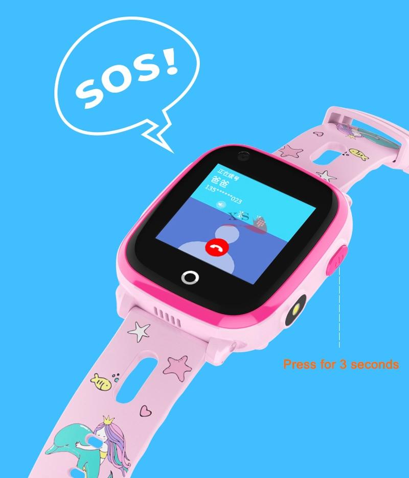 4G Camera GPS Watches WI-FI Kids Children Students Smart Wristwatch Sim Card/SOS/Video Call/ Monitor Tracker Location Waterproof 12
