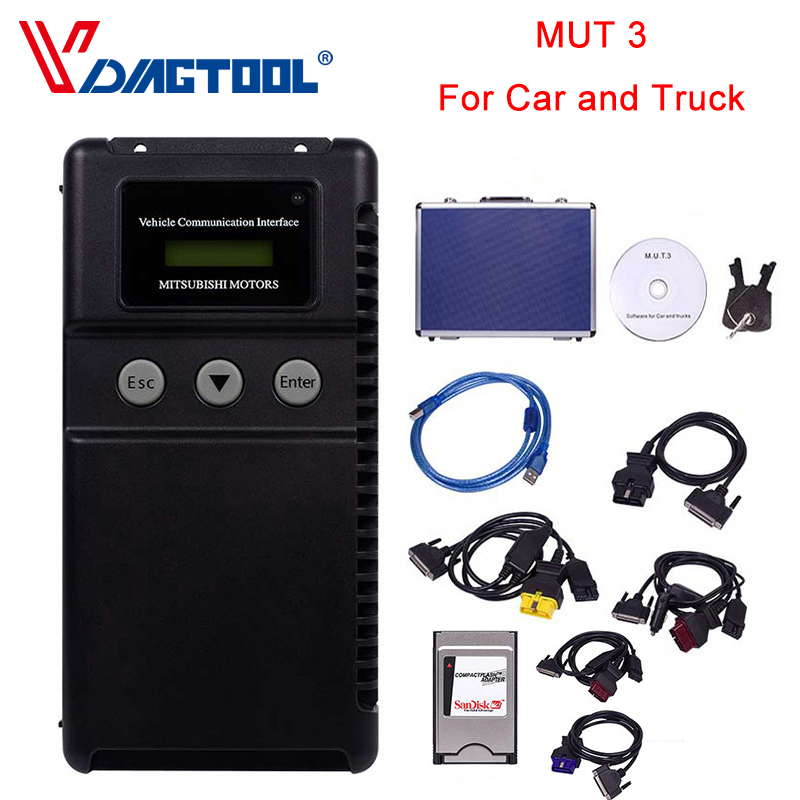OBD2 Car Diagnostic-tool MUT 3 For M-itsubishi Car And Truck Diagnostic Tool MUT-3 MUT3 MUT III Scanner Free Shipping