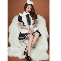 Hot Selling 2019 Women Sexy Maid Costume Halloween Christmas Carnival Costume sexy lingerie hot