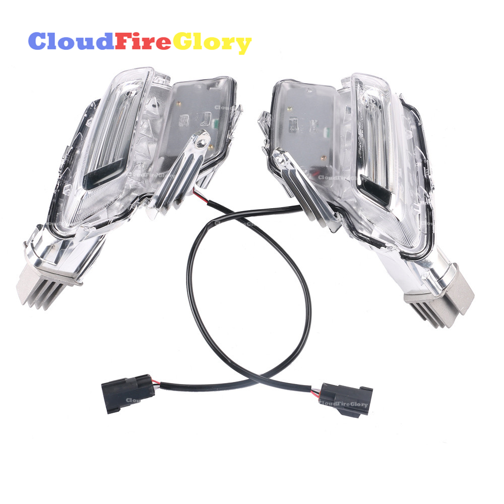 CloudFireGlory For <font><b>Volvo</b></font> <font><b>XC60</b></font> 2014-2018 Pair Left+Right Fog Light Lamp Clear LED Auto Driving Light 31364330 31364331 image
