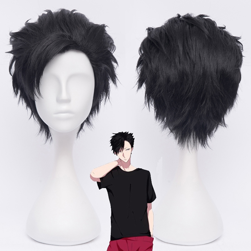 Haikyuu!! 30cm Tetsurou Kuroo Tetsurou Short Black Styled Synthetic Hair Cosplay Wig Heat Resistance Costume Wigs+ Wig Cap