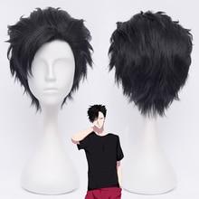 Haikyuu!! 30cm Tetsurou Kuroo Tetsurou Short Black Styled Synthetic Hair Cosplay