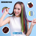 SHENGMEIYUAN 60cm Fashion hair extension for women Long hair Synthetic hair Clip-In Extensions Straight Hair Hairpiece