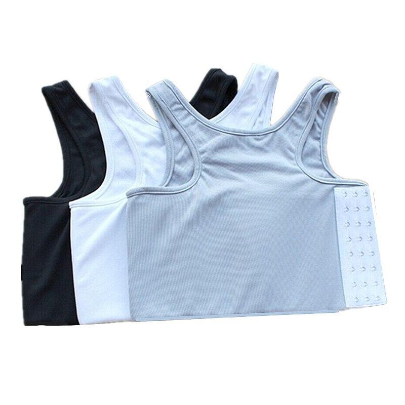 S-4XL Fortalecer Bandagem Reforçado Curto Corset Shaper Peito Peito Binder Trans Lésbicas Tomboy Regatas Camisa Colete Cueca