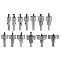 13pc/set of carbide hole opener set Stainless steel hole opener reamer metal take hole drill