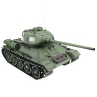 2.4G 1/16 Russian Army T34 T 34/85 RC Battle Tank World War II Model Gift Toy