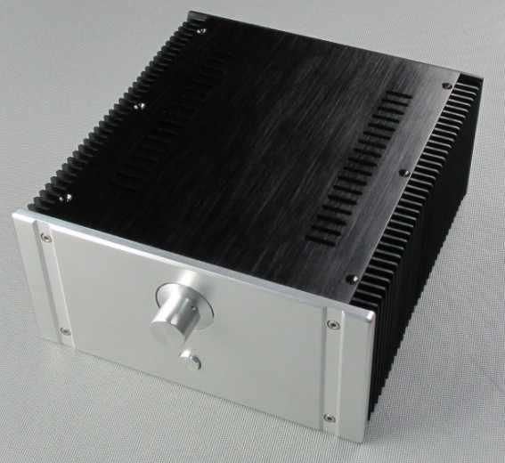 D-007 CNC алюминиевый чехол Корпус шкаф для DIY аудио усилитель мощности 240 мм * 120 мм * 257 мм 240*120*257 мм