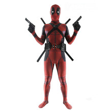 lady kids deadpool cosplay adult for kids mask adult women fancy dress superhero costumes Full Body halloween costume for men(China)