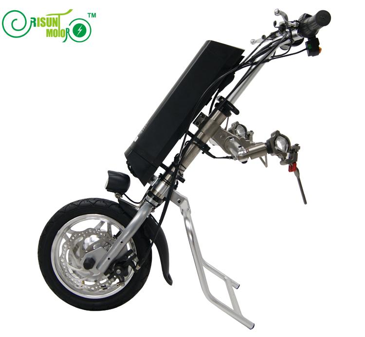 Livraison Gratuite 36 V 250 W Électrique Vélo À Main Pliage Fauteuil Roulant Attachement Handbike DIY Kits de Conversion 36 V 9AH Batterie Li-ion