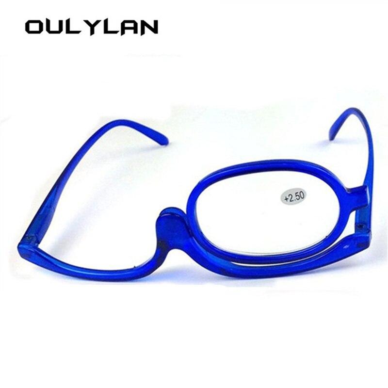 9ea122bd00c Oulylan Rotating Makeup Reading Glasses Women Flip up Magnifying Glasses  Cosmetic Folding Presbyopia Eyeglasses 1.0 1.5