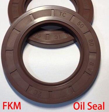 22*35*6/7/8 22x35x6/7/8 22*40*7 22x40x7 Brown Fluoro FKM Fluorine Rubber Spring Two Lip TC Gasket Radial Shaft Skeleton Oil Seal
