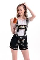 Adult Women Sexy Lederhosen Costume Oktoberfest Beer Girl Bar Maid Fancy Dress Beer Maid Clothing