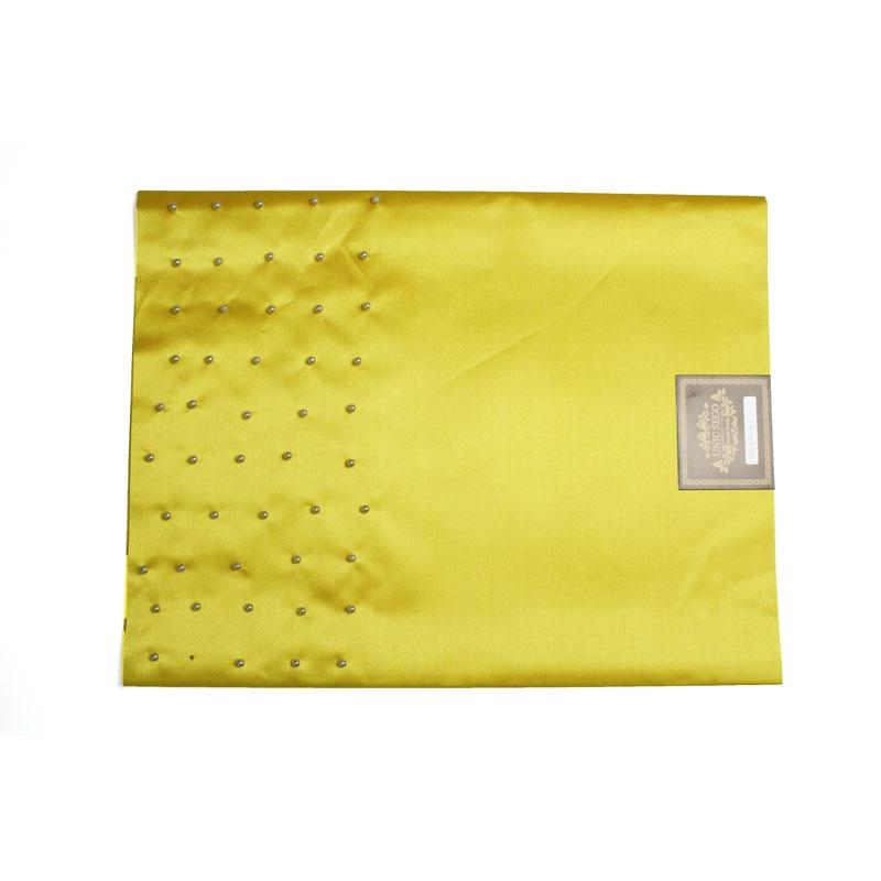 SL-1532, Nieuw ontwerp, Pearl inlay, Afrikaanse sego-koppen met kralen, Gele & Wrapper, 2 stks / set, door DHL