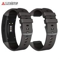 Silicone Watch Strap Para Samsung Galaxy Engrenagem Fit 2 SM-R360 Macio de alta qualidade Esporte Cinta Substituição para Samsung Engrenagem Fit 2 Pro