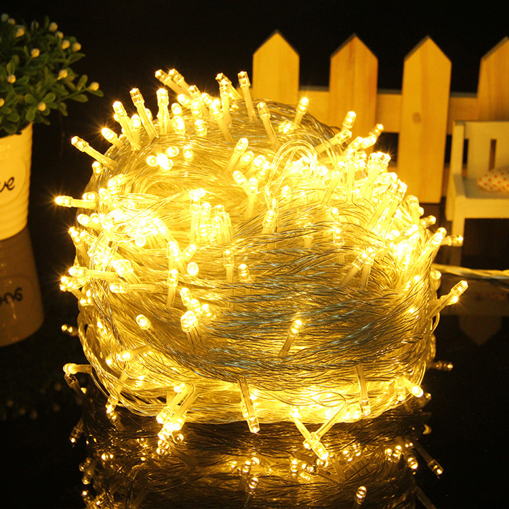 Outdoor Led String <font><b>Lights</b></font> <font><b>10M</b></font> <font><b>100Leds</b></font> Waterproof Led Holiday Strip Lamp Beads Wedding Christmas tree New Year Garden Decoration image