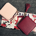Top quality Square women coin purses holders wallet,leather female money designer tassel wallets famous brand women wallet 2016