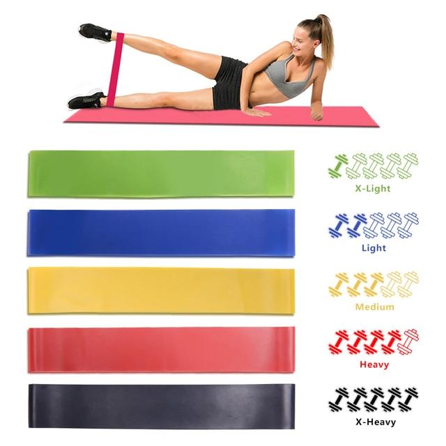 Goma de Faixas da Resistência do Exercício da aptidão Ginásio Treinamento de Força Crossfit Loop De Borracha Látex Puxar Corda Yoga Equipamentos de Fitness Expansor