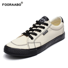FOORAABO New 2019 Spring Men's Casual Canvas Shoes Summer Canvas Shoes