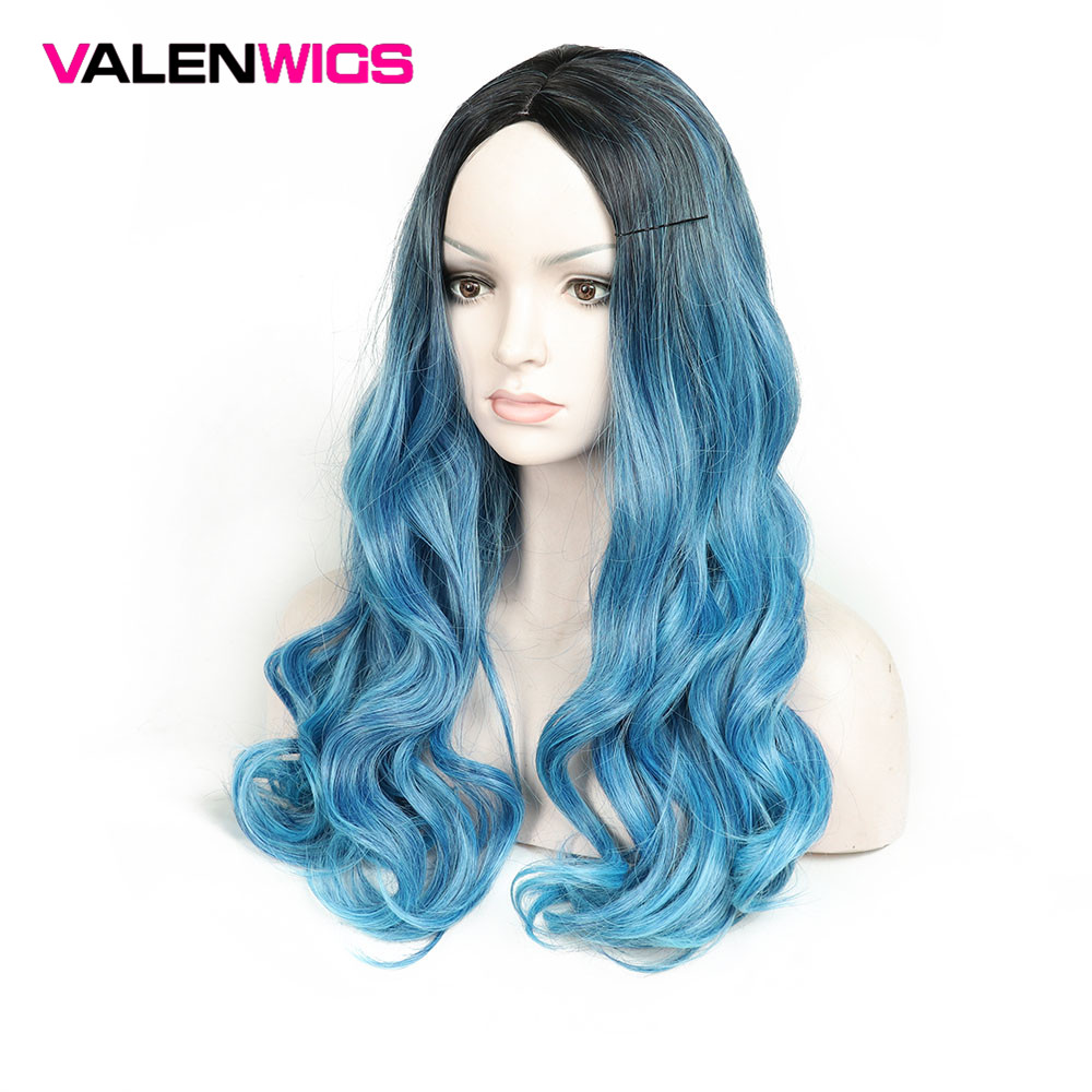 Valenwigs Long Wavy Hair 28 Inch 70cm High Density Temperature Synthetic Wig For Black White Women Glueless  Cosplay Wig