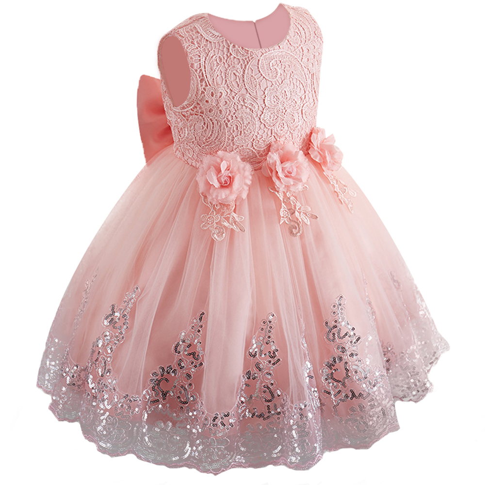 New   Flower     Girls     Dress     Flower     Girls   Sequined Princess   Dress   3-12 Years Kids Party Weddding   Girls   Prom   Dress   Children Clothing