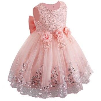 a07379ed8 Nuevo vestido de flores para niñas vestido de princesa con lentejuelas 3-12  años para fiesta de boda para niñas vestido de graduación para niños ropa