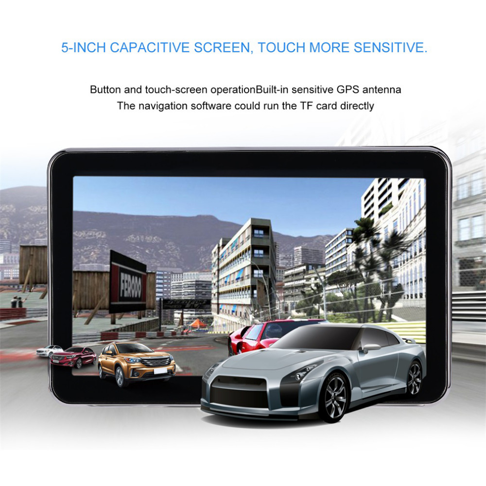 Portable 5 inch Touch Screen Car GPS