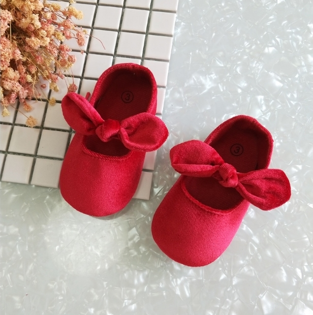 Spring and Autumn  female baby  shoes princess shoes cloth bottom toddler shoes 0-6-12 months baby shoes