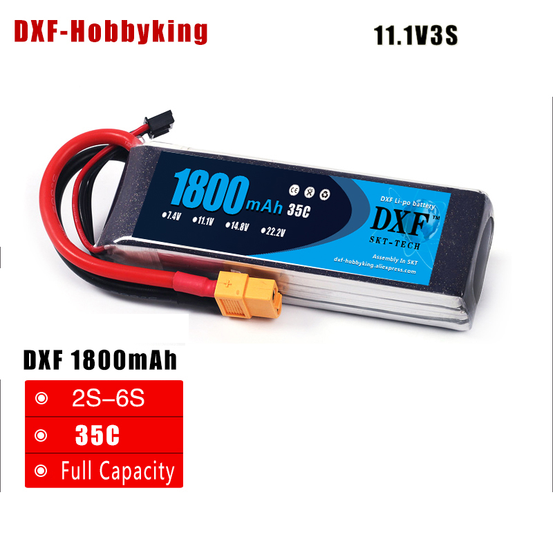 2017 DXF Lipo Battery 11.1V 1800mAh 35C max 60C 3S Akku Packs Accumulators RC Lipo Batteria Helicopter Quadcopter fpv rc car image
