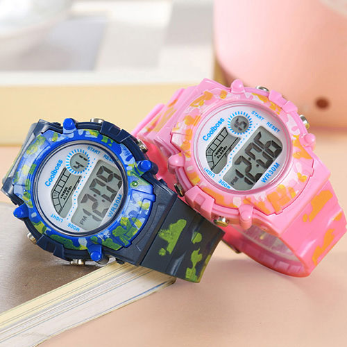 COOLBOSS Brand Electronic Sport Student Children Watch Kids Watches Boys Girls Clock Child LED Digital Wristwatch for Boy Girl