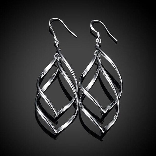 2020 New Arrival 925 Silver Jewelry Women High Quality Long Earrings Hanging Drop Earring Jewelry 3