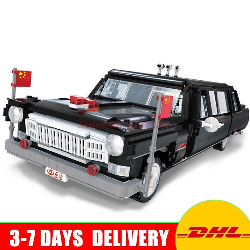 все цены на XingBao Block 03003 2327Pcs Genuine Creative MOC Technic Series The HongQi Master Car Set Building Blocks Bricks Toys Model онлайн