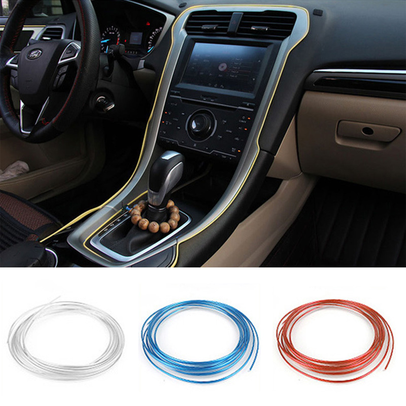 5M Car Styling Stickers and Decals Auto DIY Interior Decorative 3D Thread Stickers Decoration Strip Car-Styling Auto Accessores