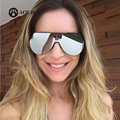 AOUBOU Fashion One Lens Sunglasses Women Brand Designer Pilot Sun Glasses Men Oversized Shades Oculos De Sol Feminino Mujer 6230