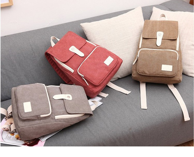 Canvasartisan top quality women canvas backpack new fashion style leisure female travel rucksuck backpacks various color 1