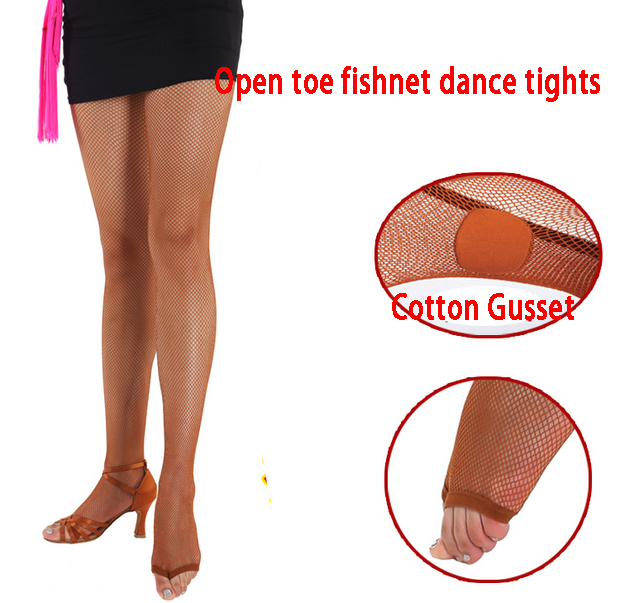 Sexy Fishnet Stockings Pantyhose Professional Ballroom Latin Fishnet Dance Tights Latin Dance Dress For Women