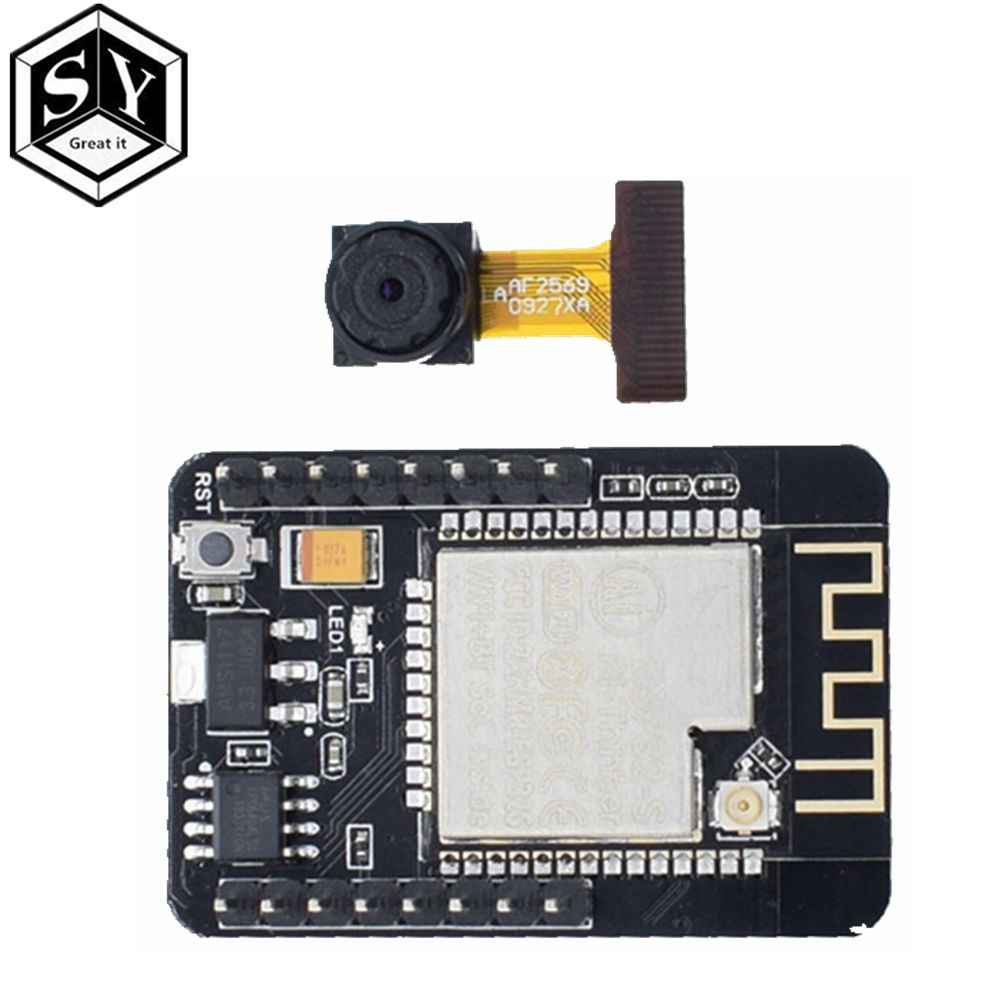 1PCS Great IT ESP32-CAM WiFi + Bluetooth Module Camera Module Development Board ESP32 with Camera Module OV2640 2MP For Arduino