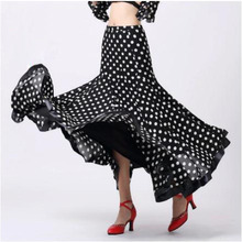New Ballroom dance costumes sexy senior Dots Embroidery ballroom dance skirt for women ballroom dance competition skirts