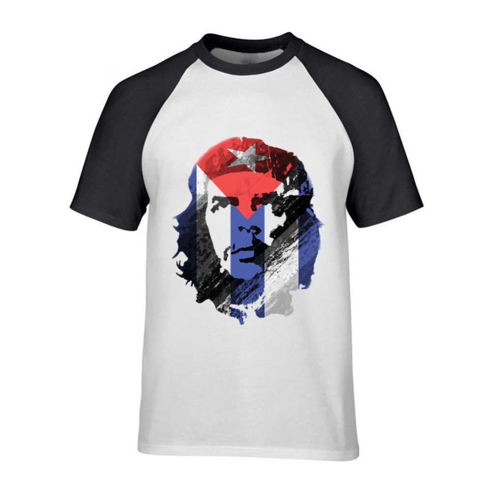 T-shirts Men's Clothing Oversize Funny Men T Shirt Che Guevara Cuba Flag Hot Sale Camisetas Tops 2017 Joker Geek Superman Chemise Homme Tee T-shirt Male Excellent Quality