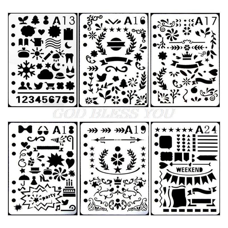 Bullet Journal Stencil Plastic Planner DIY Craft Drawing Template Diary Decor A5 Stencils For DIY Scrapbooking