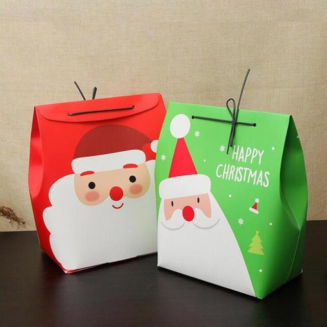 large size christmas gift box apple gift box christmas decoration for home santa claus pattern leather - Large Christmas Gift Boxes