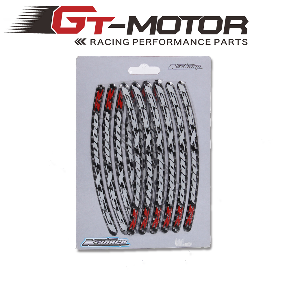 GT Motor- Motorcycle Wheel Hub Tire Sticker Decorative Strip Wheel Rim Protection Care Covers FOR SUZUKI  Gsxr600Gsxr1000