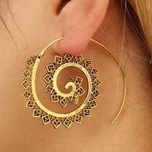 Drop Earrings For Women Indian Fashion Jewelry Gold Color Zinc Alloy Tassel Ethnic Detachable Long Dangle Earring(China)