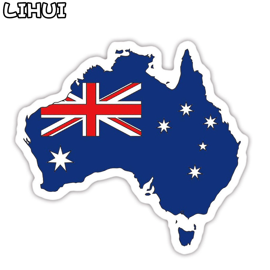1 PCS Australia Flag Sticker Toys For Kids Countries Map Travel Stickers To DIY Scrapbooking Suitcase Luggage Laptop Car Motor
