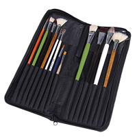 Behogar 16Slot Oxford Cloth Art Paint Writing Brush Pen Knife Zipper Storage Bag Makeup Brush Make up Holder Organizer Bag Pouch