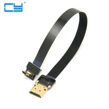 Angular FPV MicroHDMI para HDMI Cabo Plano FPC 20 cm 30 50  pe pes sj4000 sjcam sj5000 gopro hero 4 3 xiaomi yi