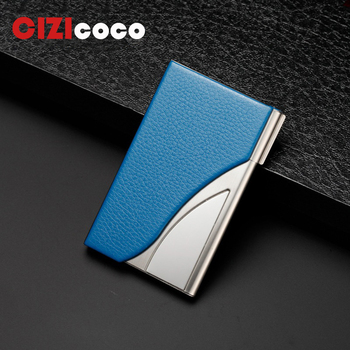 Fashion Men's Stainless Steel Credit Card Holder Id Business Card Case Wallet For Women 6 Slots zoress genuine leather women fashion card holder 22 card slots large capacity girls id credit card case bag purse wallet 8 color